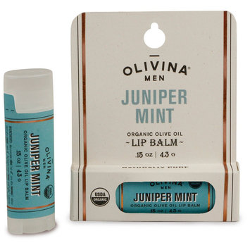Olivina Men Juniper Mint Organic Lip Balm - 0.15oz