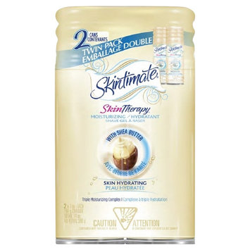 Skintimate Skin Therapy Moisturizing/Hydrating Shave Gel with Shea Butter Twin Pack - 14 oz