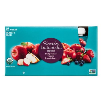 Organic Mixed Fruit Pouches Simply Balanced - 12 Count
