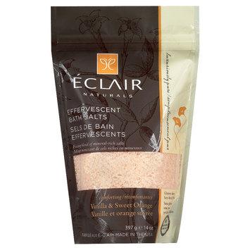 Eclair Naturals Effervescent Bath Salts Vanilla & Sweet Orange 14 oz