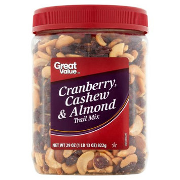 Wal-mart Stores, Inc. Great Value Cashew Cranberry & Almond Trail Mix, 30 oz