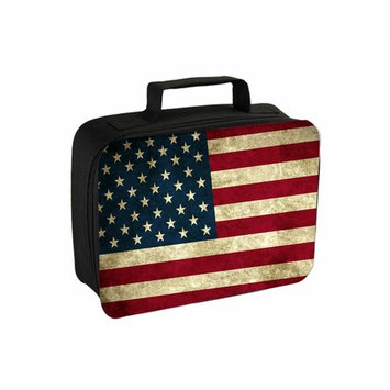 Grungy American Flag Jacks Outlet TM Travel Toiletry Bag with Hanger