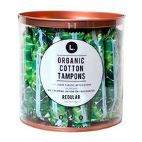 L Organic Cotton Regular Compact Tampons - 30 Count