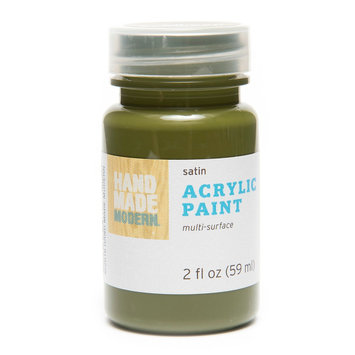 Plaid Enterprises, Inc. Hand Made Modern - 2oz Satin Acrylic Paint - Seaweed