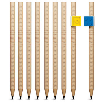 Lego 9 Pack Graphite Pencils
