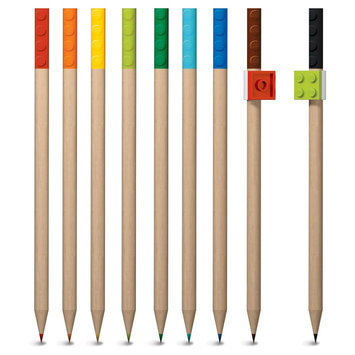 Lego 9 Pack Coloured Pencils