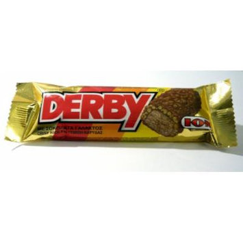 ION Derby - Greek Traditional Chocolate Bar with Crisped Rice and Coconut (20 Bars X 38g)