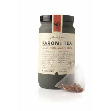 PAROMI TEA Cinnamon Chai Tea, Full-Leaf, 15-Count Tea Sachets, 13.28-Ounce Bottles (Pack of 3)