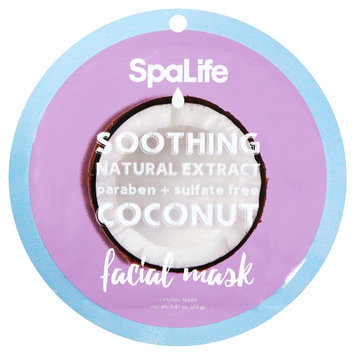 SpaLife Soothing Facial Mask - Coconut - 0.81 oz