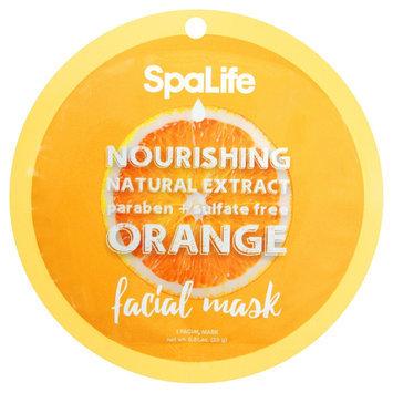 SpaLife Nourishing Facial Mask - Orange - 0.81 oz