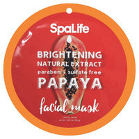 SpaLife Brightening Facial Mask - Papaya - 0.81 oz