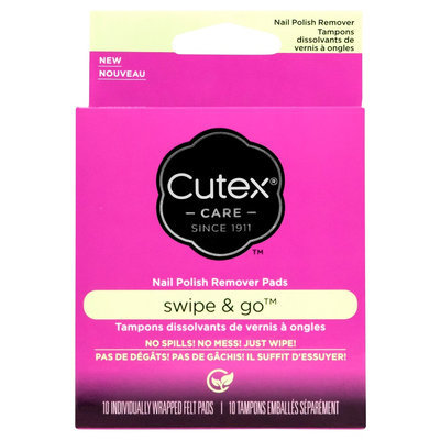Cutex Swipe and Go Remover Pads 10 ct