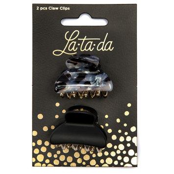 La-ta-da Small Claw Clips 2 Count, Black