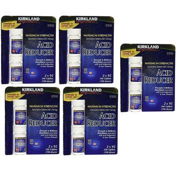Kirkland Signature Maximum Strength Acid reducer Ranitidine tablets USP 150MG oWMmfI, 5Pack (190 Tablets)