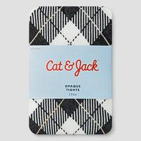 Baby Girls' Tartan with Lurex Tights Baby Cat & Jack - Almond Cream 2T-3T