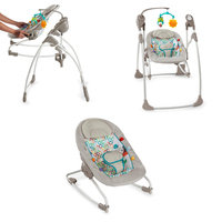 Bright Starts Rock and Swing 2-in-1 - Jungle Stream, Lt Grey