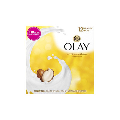 Olay Moisture Outlast Ultra Moisture with Shea Butter Beauty Bars, 3.17 oz, 6 count, (Pack of 2)