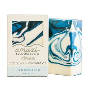 Amazi Charcoal Coconut Oil Bar Soap - 4oz