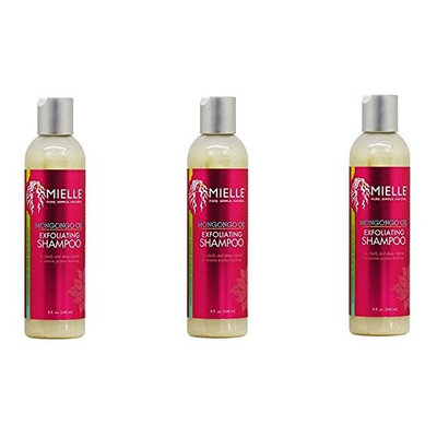 [ VALUE PACK OF 3] Mielle Organics Mongongo Oil Exfoliating Shampoo 8oz : Beauty