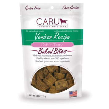 Caru Natural Grain Free Venison Recipe Bites for Dogs