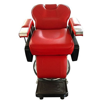 360°Swivel Professional Hydraulic Recline Barber Chair Salon Beauty Spa Styling Equipment(Red)
