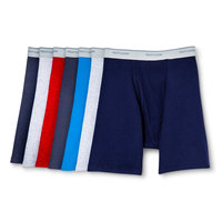Bonus Pack! Fruit of the Loom Men's 5+2 Free Pack Assorted Color Boxer Briefs