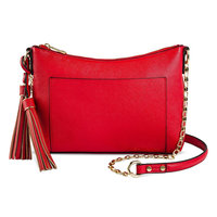 Women's Faux Leather Crossbody Bag Brown- Merona, Brown