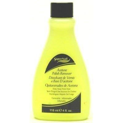Super Nail 4 oz. Acetone Polish Remover (Yellow) (Case of 6)