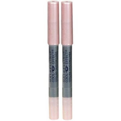 Maybelline Cool Effect Cooling Eyeshadow and Eye Liner PINK PETAL (Qty, of 2 Pencils)DISCONTINUED