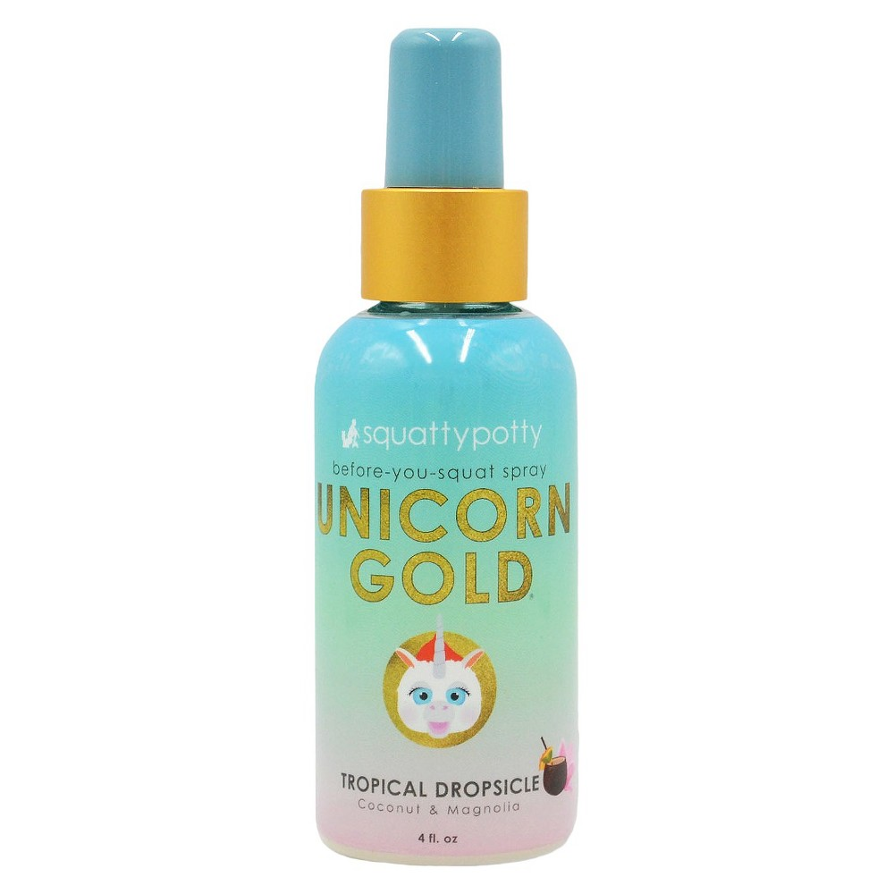 Unicorn Gold Air Freshener Spray Scent - Squatty Potty, Yellow