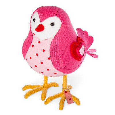 Valentine's Day Fabric Decorative Bird Rosie - Spritz, Pink