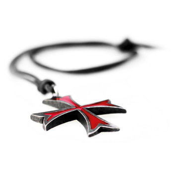 Ubi Soft Assassin's Creed Templar Symbol Necklace, Red