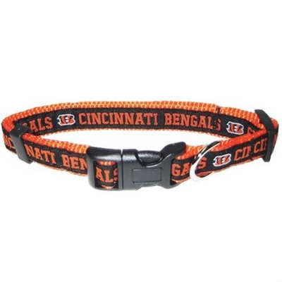 Pets First Cincinnati Bengals NFL Dog Collar - Small - CNBC-S