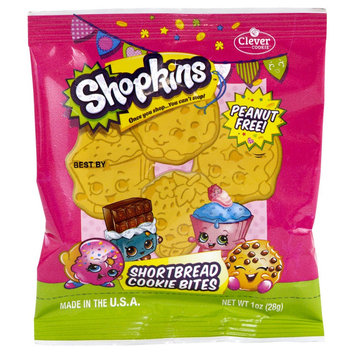 Clever Cookie Shopkins Shortbread Cookie Bites 1 oz