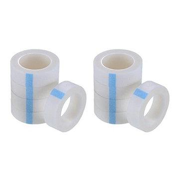 10Rolls 9M Non-woven Farbic White Eyelash Tapes Fabric Eyelash Tapes for Eyelash Extension Supply Medical Adhesive Sensitive Tool