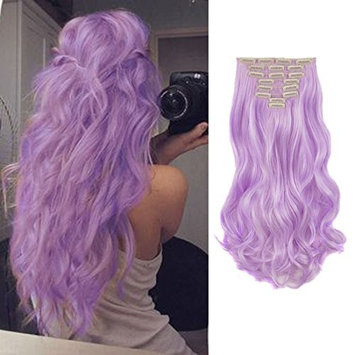 FIRSTLIKE 24 Inches Full Head Clip in Hair Extensions 8 Piece 18 Clips Thick Weft Long Soft Silky Straight and Curly for Women Fashion