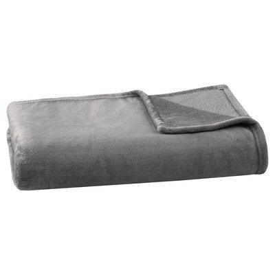 Microlight Plush Blanket (King) Charcoal (Grey)