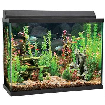 Top Fin® 37 Gallon Aquarium Starter Kit, Black