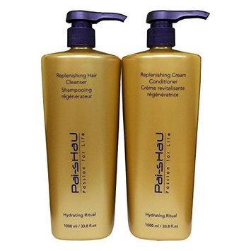 Pai Shau Replenishing Cleanser Shampoo & Cream Conditioner 33.8 Oz / Liter Duo