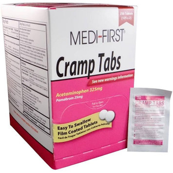 Medifirst Cramp Tabs Acetaminophen Menstrual Relief 2 Boxes ( 500 tablets ) MS-75580