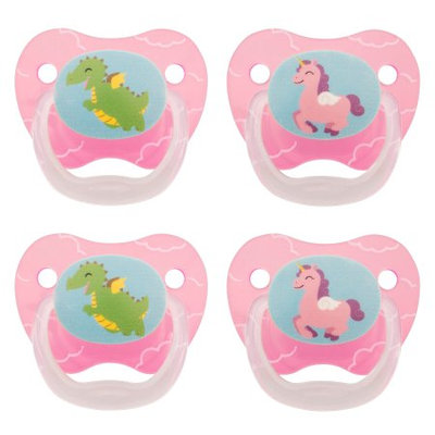 Handi-craft Company Dr. Brown's PreVent Classic Pacifier, Stage 1 (0-6m), Explore Pink, 4 Count
