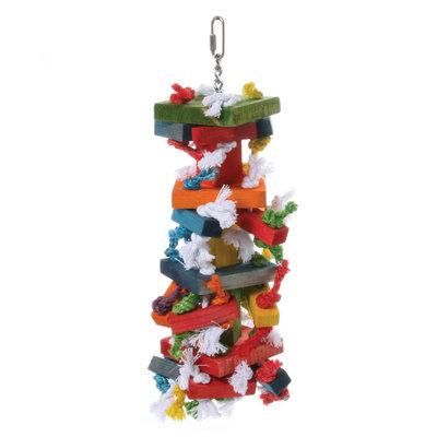 All Living Things® Knots and Blocks Bird Toy
