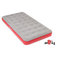 Coleman QuickBed Air Mattress Single High Twin with Pump - Grey