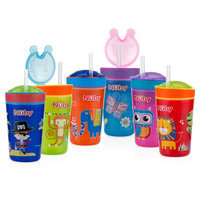 Nuby Active Cup Flip It Reflex Cup, Multi-Colored