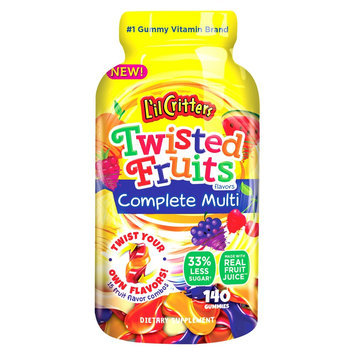 L'il Critters Twisted Fruits Multivitamin Gummies - 140ct