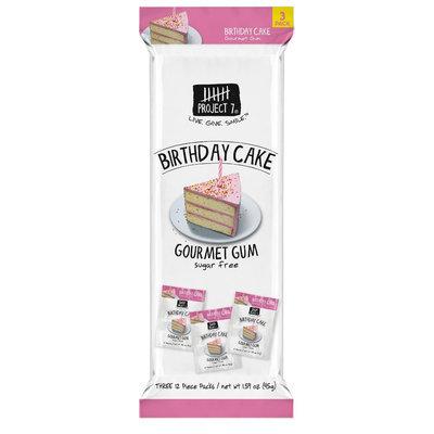 Project 7 Birthday Cake Gourmet Gum 1.59 Oz