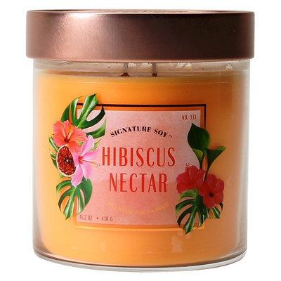 Signature Soy Jar Candle Hibiscus Nectar - 15.2oz, Orange