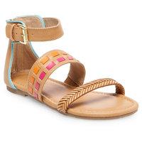 Girls' Blair Quarter Strap Sandals Cat & Jack - Multicolor 1, Multicolored