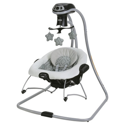 Graco DuetConnect LX with Multi-Direction Swing - Asher, Black