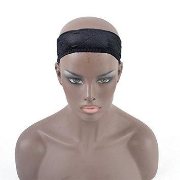 Dingli Hair 2017 New Flexible Velvet Wig Grip Scarf Head Hair Band Extra Hold Wig Adjustable Fastern (2pcs Black)